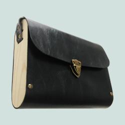 Cross body wooden bag