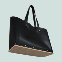 Tote wooden bag